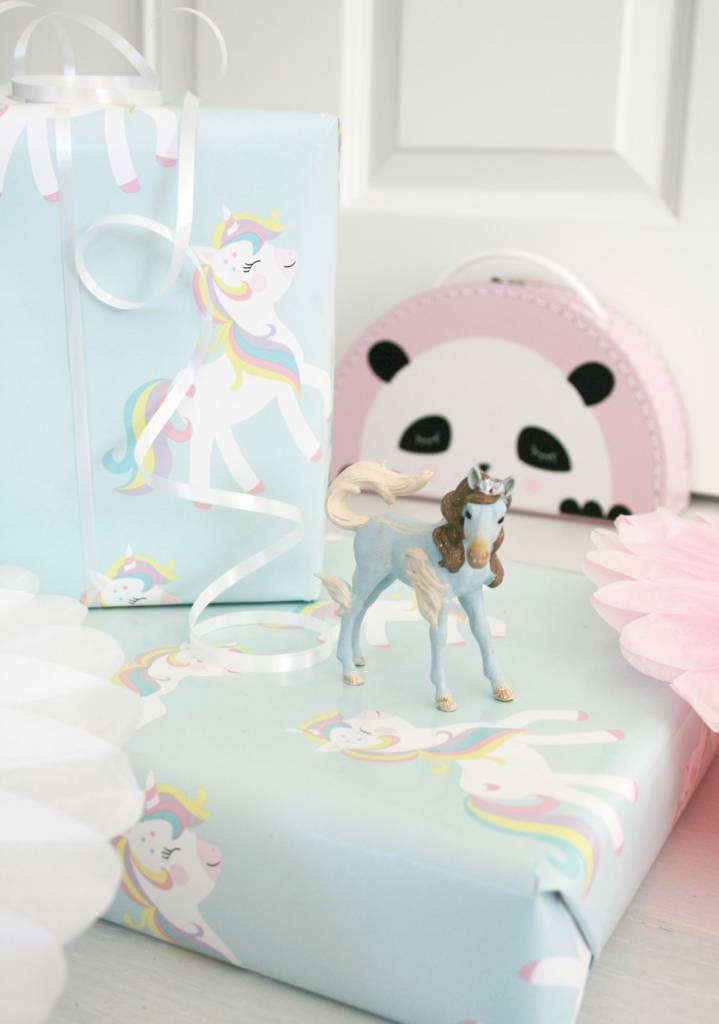 Geschenkpapier-Miss unicorn-original Mimirella Illustration