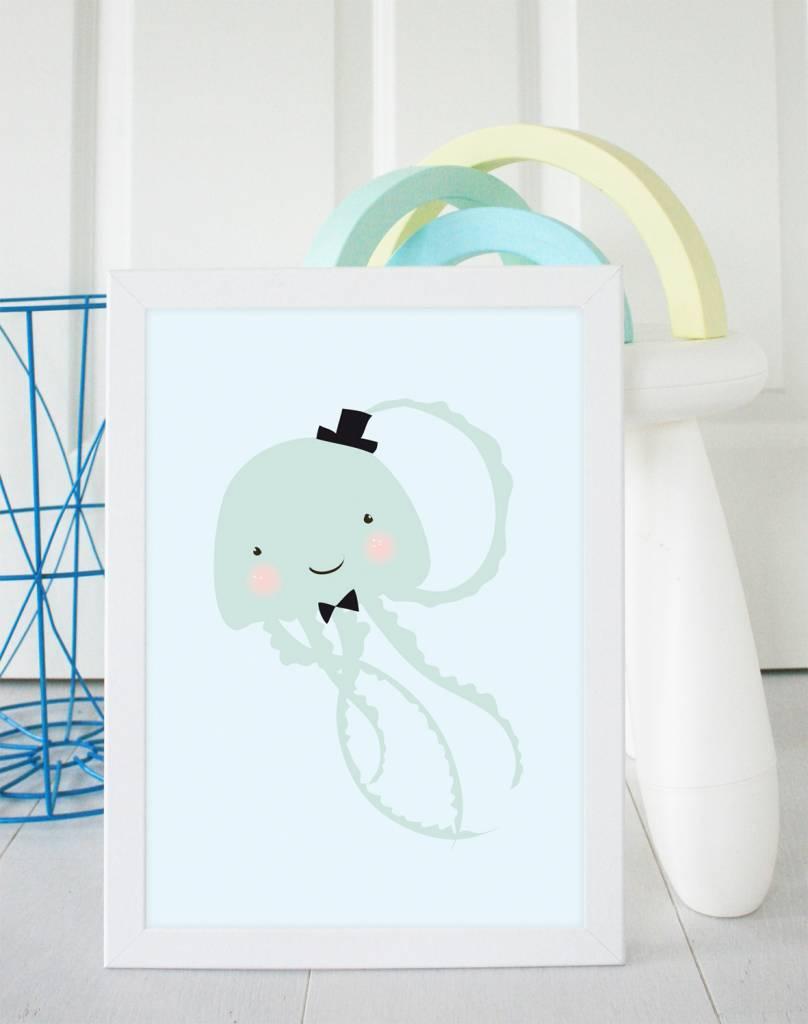 Poster für's Kinderzimmer-Kleine Qualle