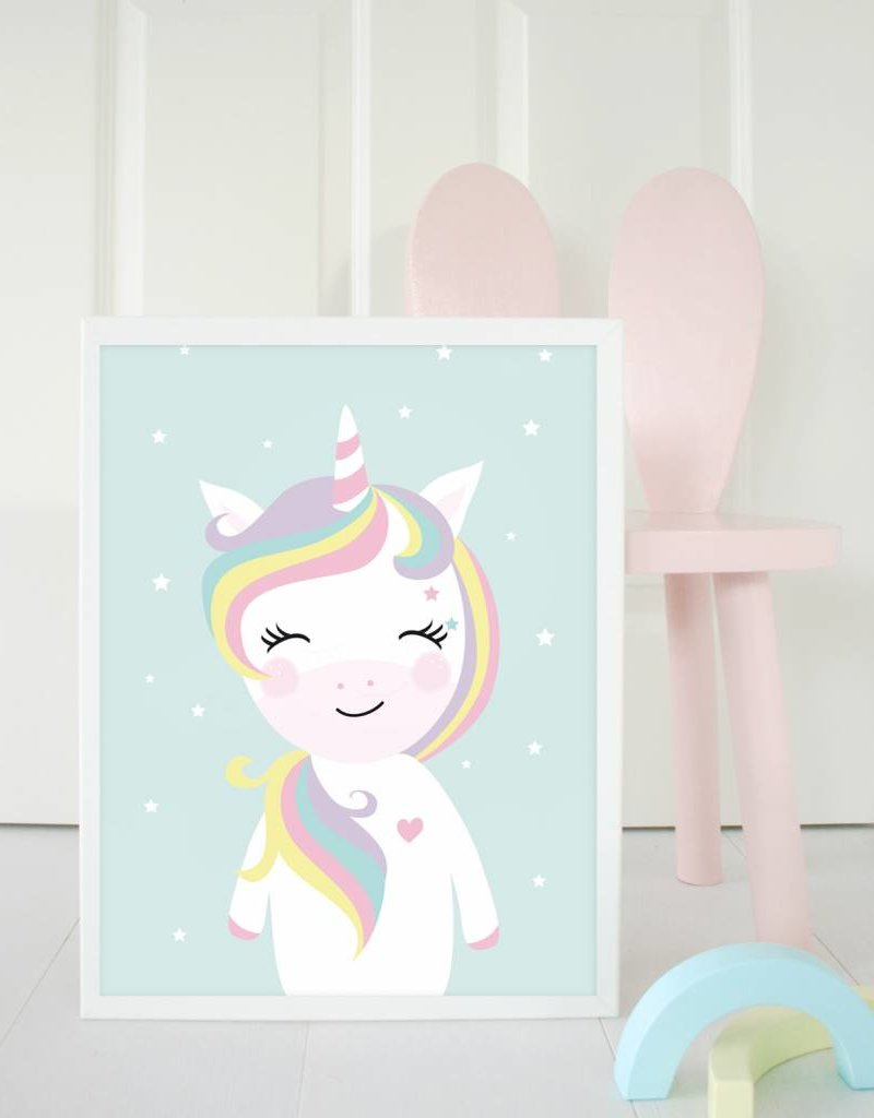 Poster für's Kinderzimmer - Little Miss Unicorn