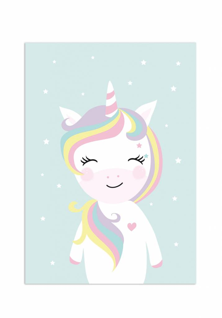 Poster für's Kinderzimmer - Little Miss Unicorn