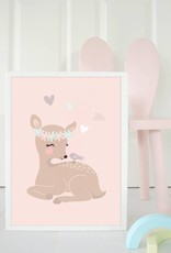 Poster für's Kinderzimmer - Kleines Rehmädchen