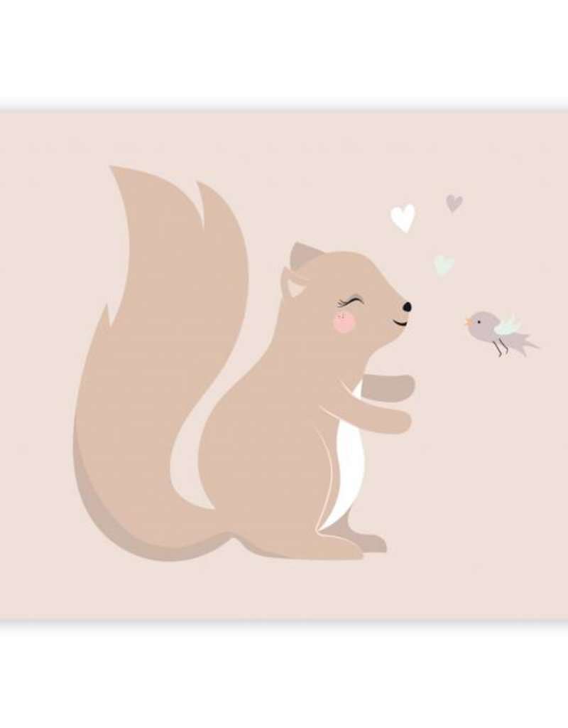 Poster für's Kinderzimmer - Kleines Eichhörnchen