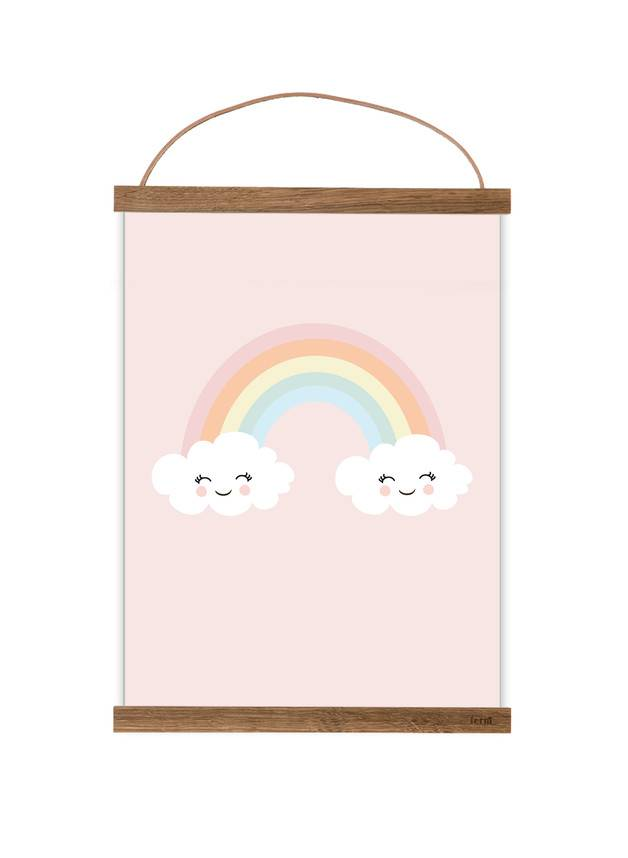 Poster für's Kinderzimmer - Happy Rainbow