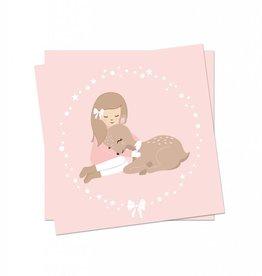 Weihnachtskarte WIntermädchen
