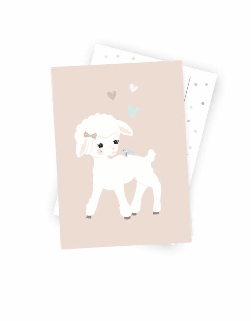 """Postcard  """"Miss Hanni"""" - Copy"""