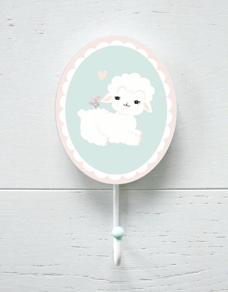 Wandhaken für's Kinderzimmer Kleines Lämmchen Wooly