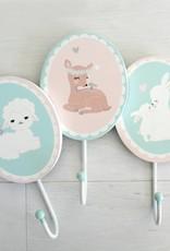 Wandhaken für's Kinderzimmer Kleine Hasen