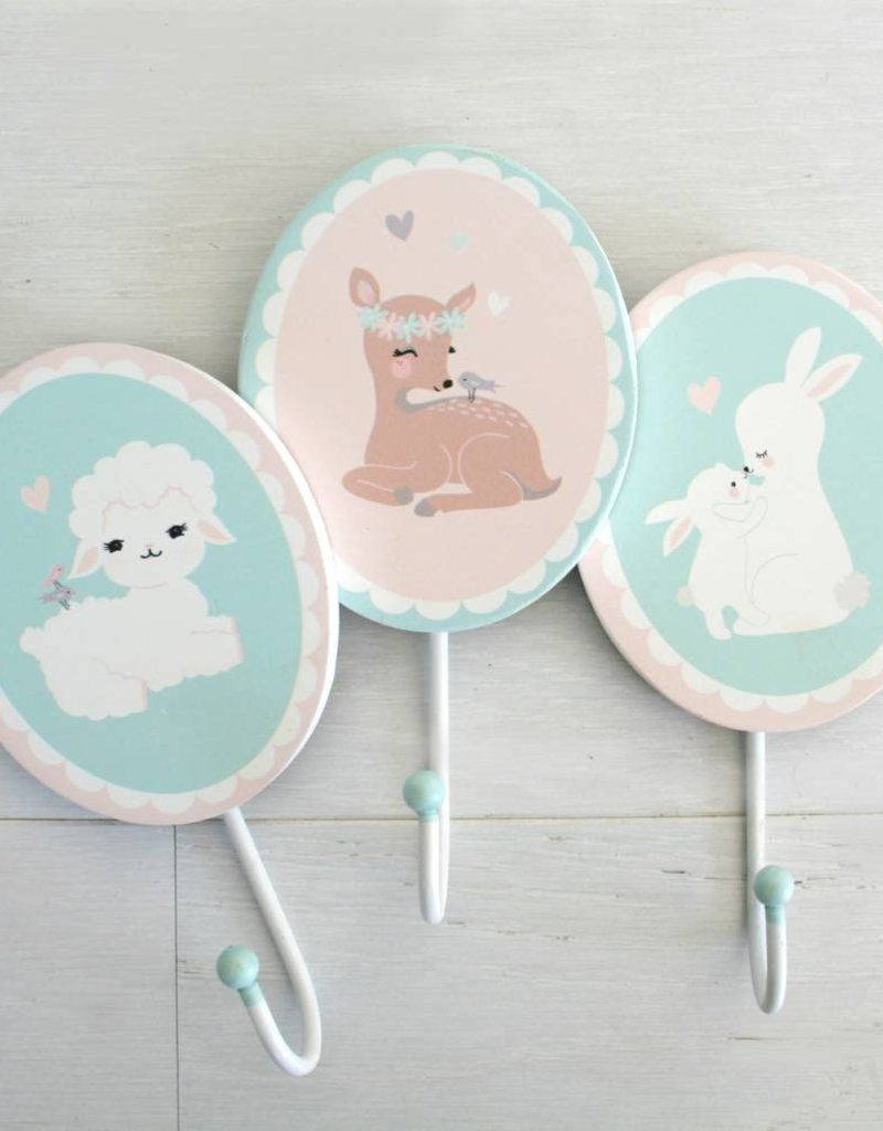 Wallhook for the kids room Little Bunnies