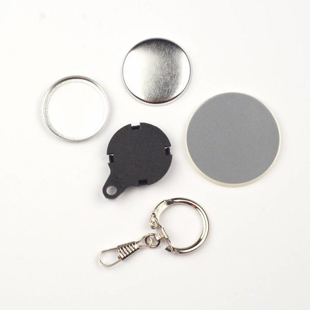 Sleutelhanger button onderdelensets 25mm (1 inch)