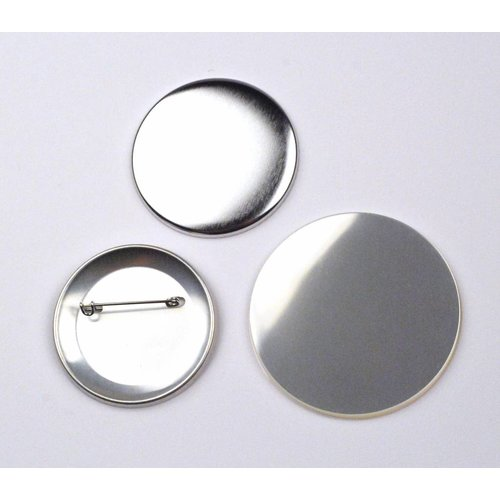 Button parts, pinned back, 56mm (2 1/4 inch)