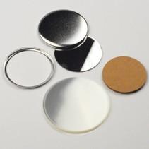 Spiegel Button Onderdelenset, 56mm (2 1/4 inch)