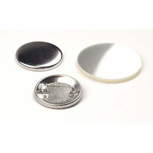 Button parts, pinned back, 32mm (1 1/4 inch)