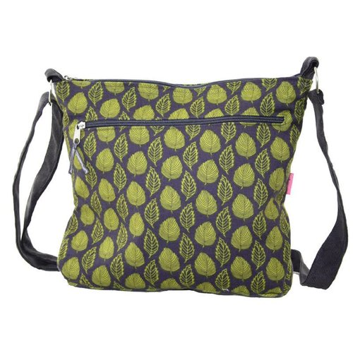 LUA Copy of Green & grey leaf messenger bag