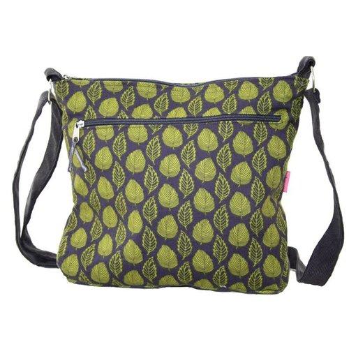 LUA Grey Green Citrus Leaf - Messenger Bag Large