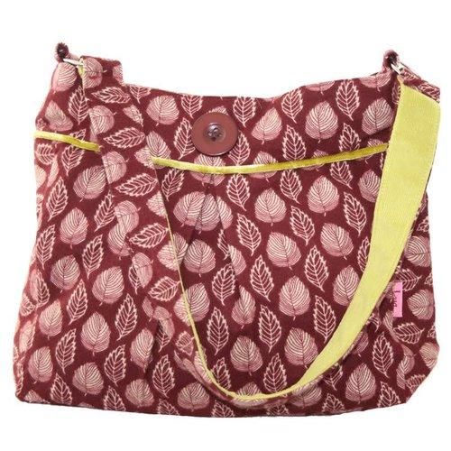 LUA Pleated Button Bag