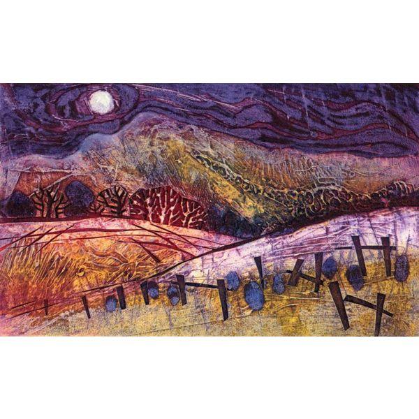 Moon Over Autumn Fields