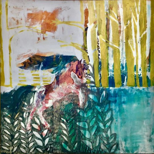 Lisa Naylor Rise - mixed media painting