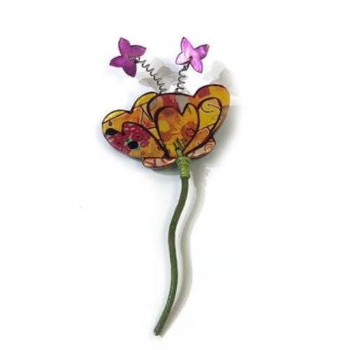One Button Flower Brooch