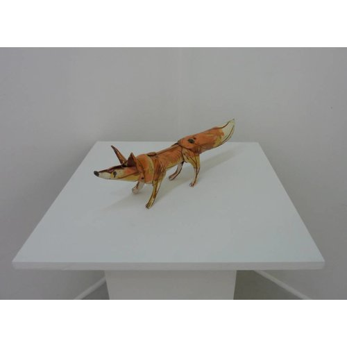 Anna-Mercedies Wear Standing fox 1 ceramic sculpture
