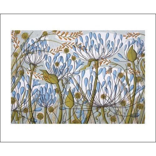 Art Angels Agapanthus II card by Angie Lewin