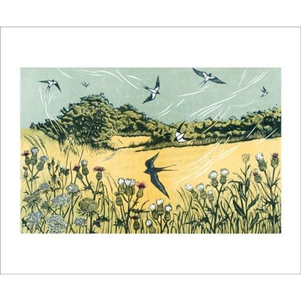 Bayfield Swallows card by Niki Bowers
