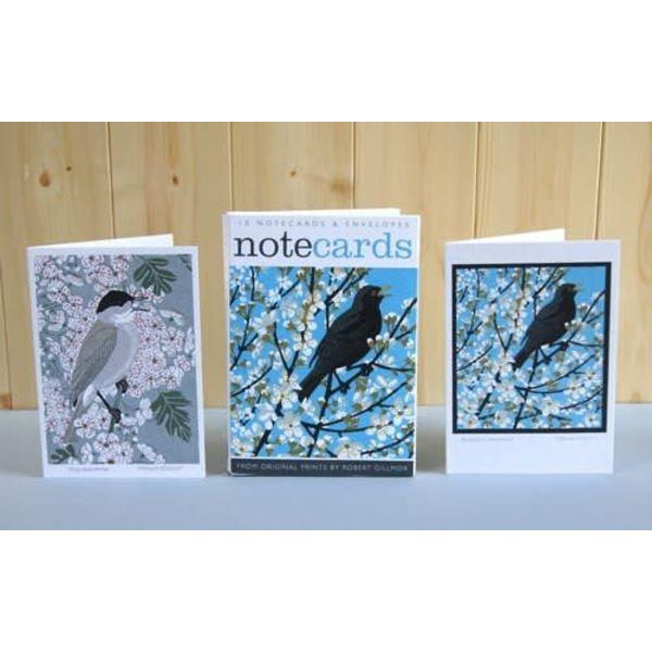 Blackthorn Blackbird and Blackcap Notelets Robert Gilmor