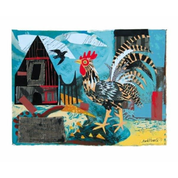 Cockerel  card by Mark Hearld