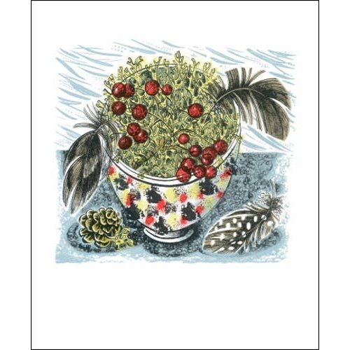 Art Angels Cromarty Bowl card by Angie Lewin