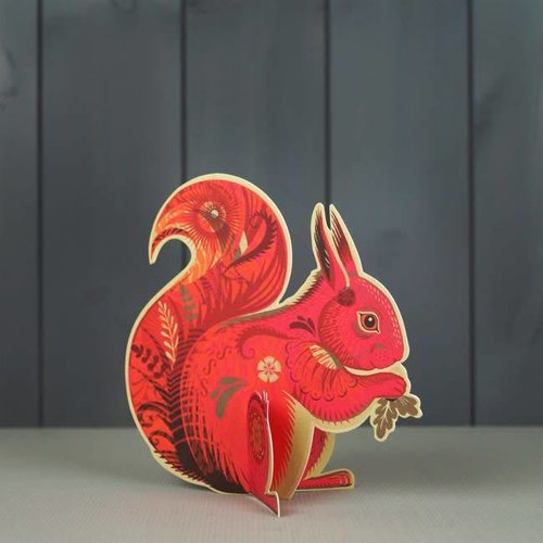 Art Angels Cyril Squirrel cut card by Sarah Young