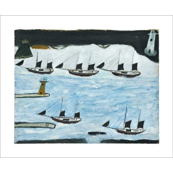 Five Ships  card by Alfred Wallis