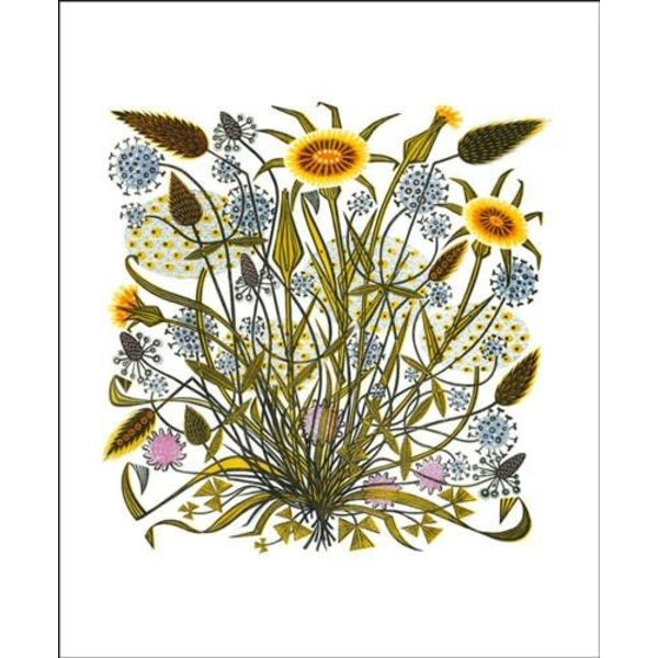 Goats Beard and Grasses card by Angie Lewin