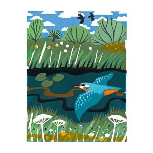 Art Angels Kingfisher card by Carry Akroyd