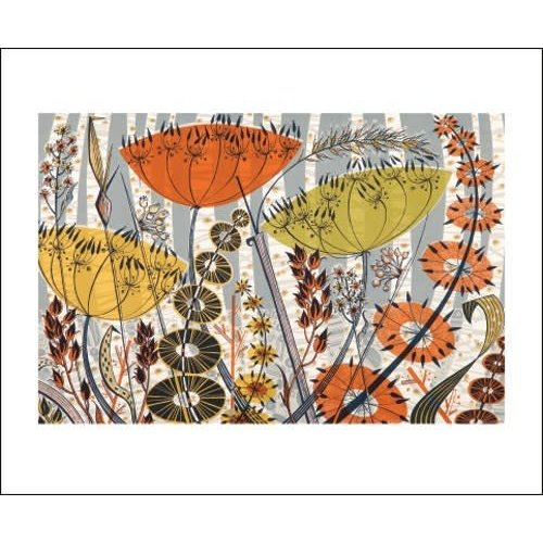 Art Angels Spey Birches card by Angie Lewin