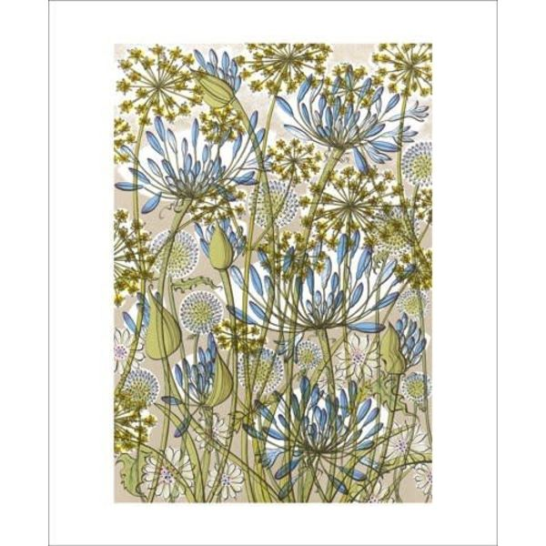 The Walled Garden card by Angie Lewin