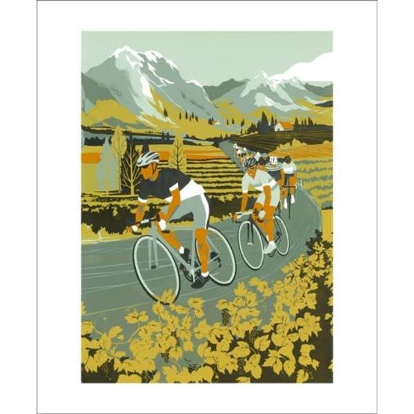 Vineyard Cyclists card by Eliza Southwood