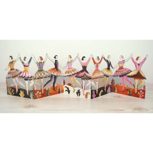 Art Angels Dancers 3D card by Sarah Young