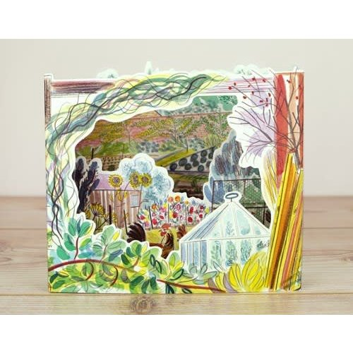 Art Angels Chickens Allotments 3D card by Emily Sutton