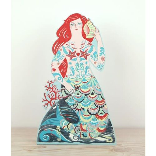 Art Angels Meryl Mermaid 3D card by Emily Sutton