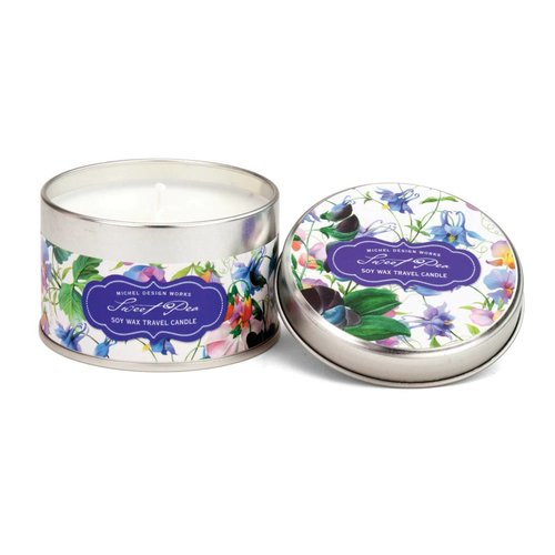 Michel Design Works Sweet Pea Travel Candle Tin 20 +hours