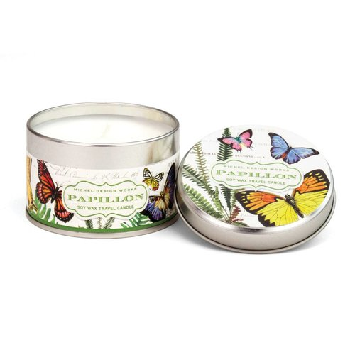 Michel Design Works Papillon Travel Candle Tin 20 +hours
