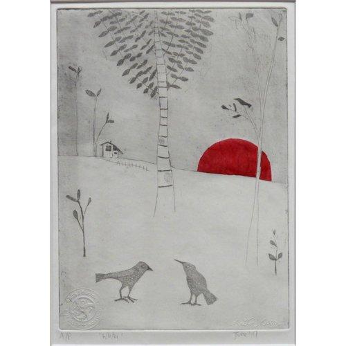 Anita J Burrows Winter - Radierung