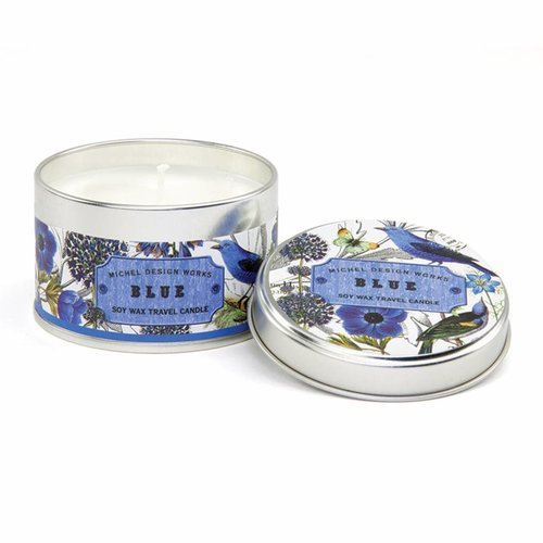 Michel Design Works Blue Travel Candle
