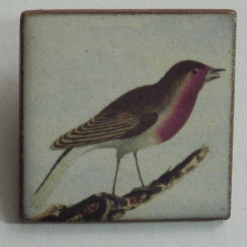 Stockwell Ceramics Heritage Robin  brooch
