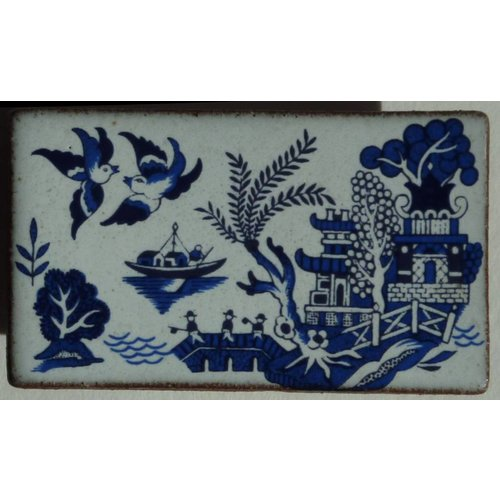 Stockwell Ceramics Copy of Willow pattern tree brooch