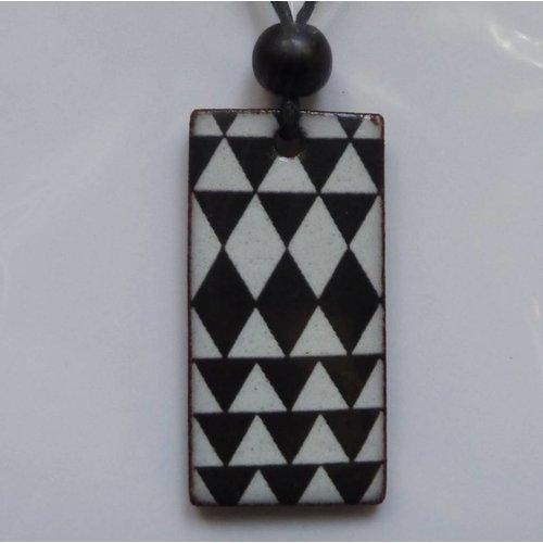 Stockwell Ceramics Black and White Pendant