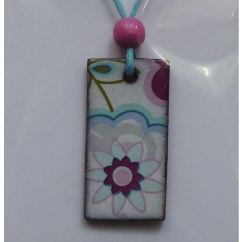Stockwell Ceramics Copy of Blue Flower Pendant