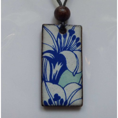 Stockwell Ceramics Copy of Blue Wavy  Pendant