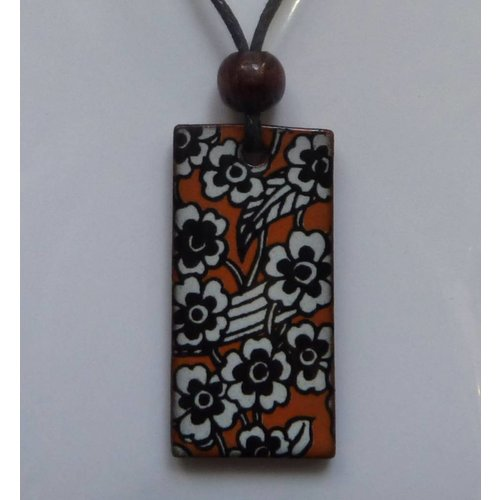 Stockwell Ceramics Copy of Orange Daisy pendant