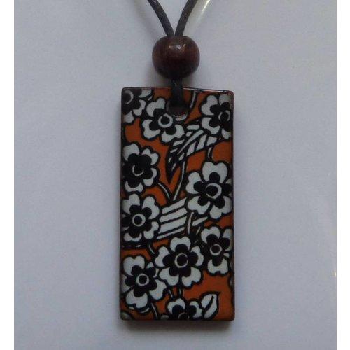Stockwell Ceramics Orange pendant