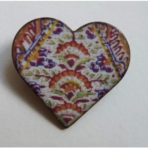 Stockwell Ceramics Heart Warner  brooch